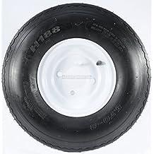 "Trailer Tire + Rim 5.70-8 570-8 5.70 X 8 8"" LRB 4 Lug Hole Bolt White Wheel"