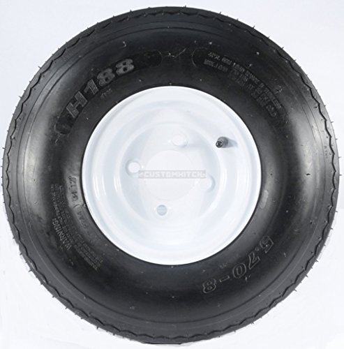 two-trailer-tires-rims-570-8-570-8-570-x-8-8-b-4-lug-hole-bolt-wheel-white
