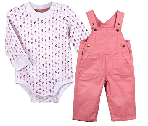Browning BRB0010 Baby/Infant Rolly Polly Snap Coveralls Dusty Rose 12 Months