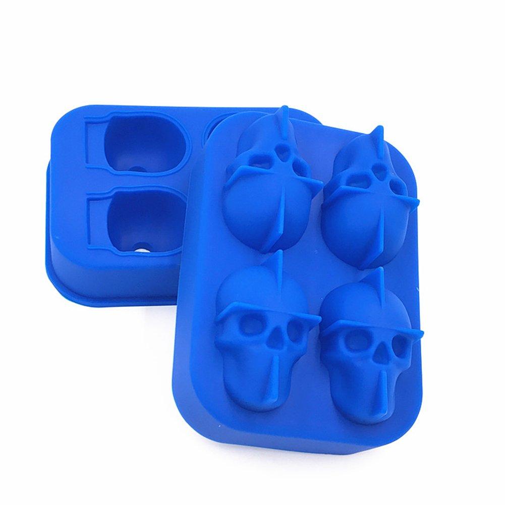 Bones Skull Shape Silicone Ice Cube Chocolate Tray Cake Mold Candy Sugar Mould