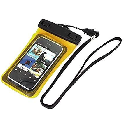 eDealMax Teléfono celular impermeable del bolso seco Protector cubierta de la caja Amarillo claro