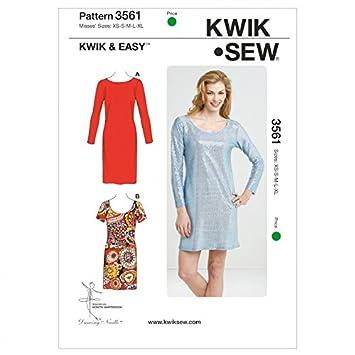 Kwik Sew Damen Easy Schnittmuster 3561 Einfache Jersey Knit Kleider ...