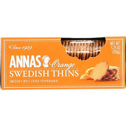 Anna's Orange Thins Swedish Cookies 5.25 Oz (Pack of 6)