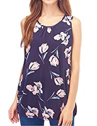 Smallshow Women's Maternity Nursing Tank Top Sleeveless Comfy Breastfeeding Clothes