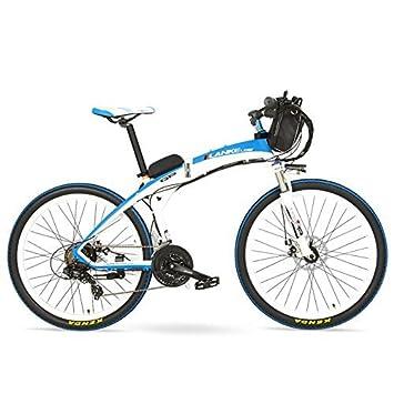 LANKELEISI GP 26 Pulgadas Bicicleta eléctrica de montaña de Plegado rápido, batería de 48V 12Ah