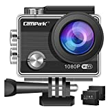 Campark ACT68 Action Camera WiFi 4K 12 MP Full HD 1080P Waterproof Underwater Cam with 170 Wide-Angle Lens and Rechargeable Battery,include 30M Waterproof Case