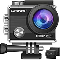 Campark ACT68 Action Camera Waterproof Camera WiFi 2.7K & FHD 1080P Underwater Video Cam Mounting Accessories Kit