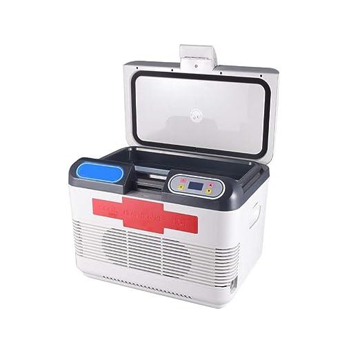 KPOON Refrigerador pequeño Coche Nevera compacta de 15 litros ...