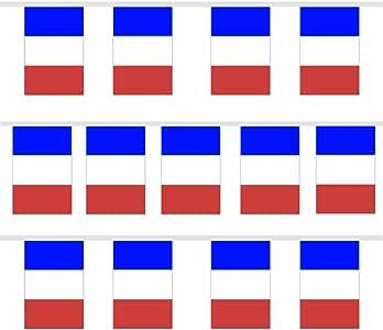TRIXES – 9 m Guirnalda Tricolor Francesa banderines Azul Blanco Rojo para Celebraciones nationales Fiesta Nacional: Amazon.es: Hogar