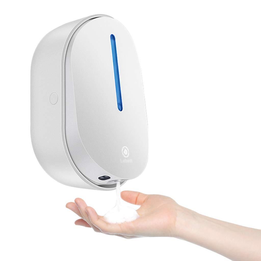 Wall-Mounted soap Dispenser Automatic Sensor soap Dispenser Kitchen Sink Hand sanitizer Bottle Bathroom soap Dispenser (Color : White, Size : 12.218cm) by Personal Care Product Dispensers