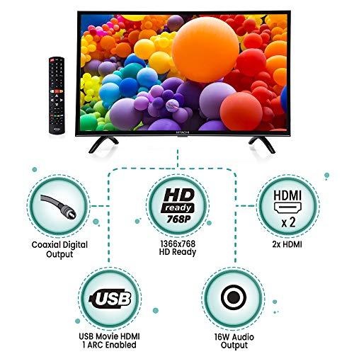 Hitachi 125 cm (49 Inch) 4K Ultra HD Smart LED TV LD49HTS07U (Black) (2019 Model)