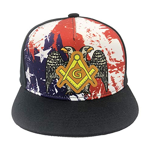 Channel Five Freemaon Masonic Symbol Snapback Hats for Men Adjustable Mason Fitted Hats Baseball Cap