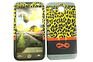 Cell-Attire Shockproof Hybrid Case For LG Optimus G Pro, E980 and Stylus Pen, Gray Soft Rubber Skin with Hard Cover (Infinity, Leopard, Brown, Red, Black) AT&T by Maris's Diary