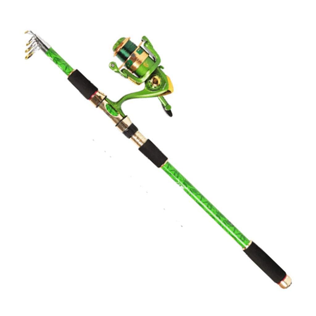 釣り竿 - 超軽量スーパーハードカーボンカーボン長距離釣りリール滑り止めグリップ格納式釣りギア (サイズ さいず : 1.8m) 1.8m  B07QLT4QDV