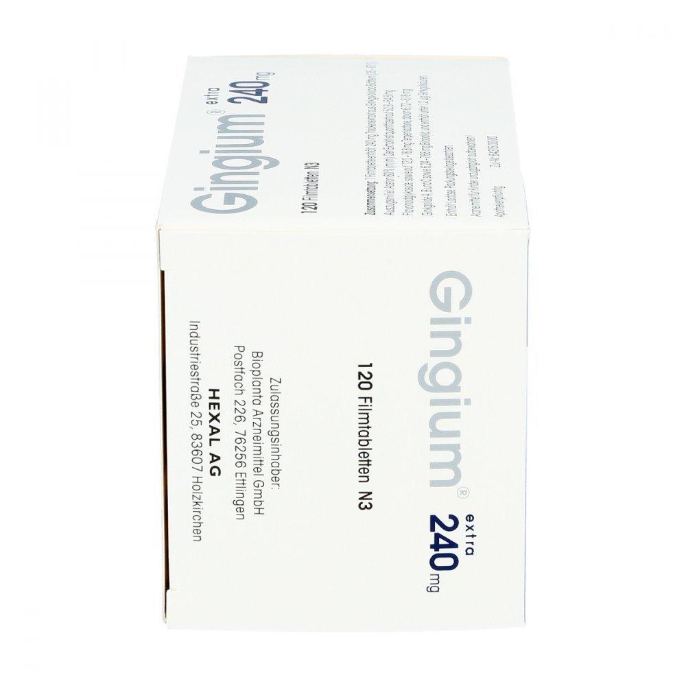 gingium extra 240 MG, 120 St. Película pastillas: Amazon.es: Salud y cuidado personal