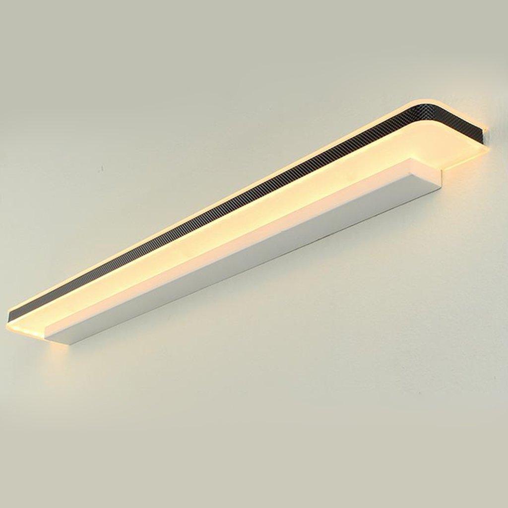 JXXDQ -Badezimmerbe leuchtung Lange vor dem amerikanischen einfachen Streifenspiegel Licht, LED-Lampe Spiegelschrank makeup counters Lampe, Metallhalogenidlampe LampenKörper Acrylschirm, anglebig