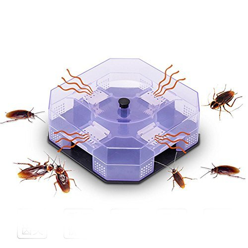 Leegoal Roach Traps, Cockroach Catcher, Roach Killer, Reusable and Safe Non-Toxic for Kids and Pets, Eco-Friendly