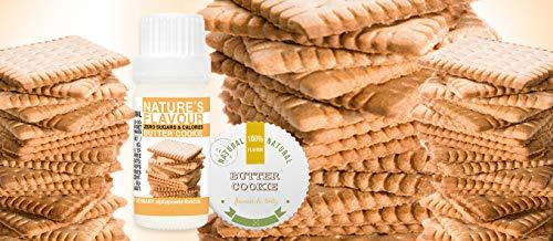 ALPHAPOWER FOOD Aroma alimentario - alimenticio, concentrado 1400%*1x10ml saborizante de alimentos Galleta de mantequilla, vegano, gotas aromatizantes ...
