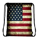 Meffort Inc Lightweight Drawstring Bag Sport Gym Sack Bag Backpack – USA Flag Review