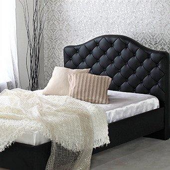 おしゃれな ホテル 黒い ハイバック レザー すのこベッド 【フレームのみ マットレス無し】 ダブル B077D69NQY  ダブル