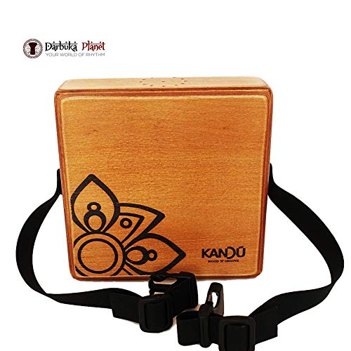 The Kandu Mashbox – is the first-ever wearable drum shaker,small Cajon designed to meet the needs of every percussionist-(Nut Brown)