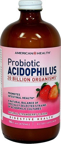 (American Health Probiotic Acidophilus Natural Strawberry -- 16 fl oz - 2pc)
