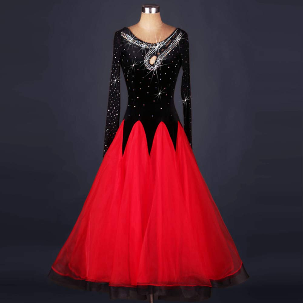 注目のブランド 現代のワルツタンゴパフォーマンスコスチューム滑らかな全国標準社交ダンスドレスコンペティションダンスの衣装グレートスイング B07PCMKG5Q B07PCMKG5Q Red Red XXL XXL, カットバック:d31cad40 --- a0267596.xsph.ru