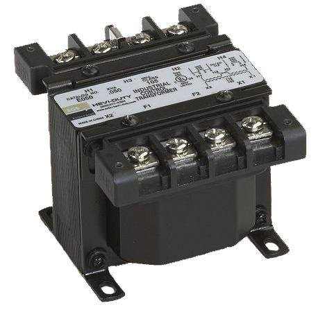 Sola Hevi-Duty E250E Transformer, Control, 250VA, 120 x 240 Primary- 24 Secondary, - Transformers Hevi Duty Sola