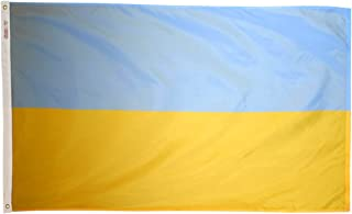 product image for Annin Flagmakers Model 221643 Ukraine Flag 3x5 ft. Nylon SolarGuard Nyl-Glo 100% Made in USA to Official United Nations Design Specifications.