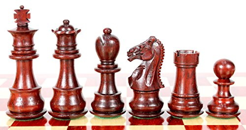 House of Chess - Bud Rosewood/Boxwood Chess Pieces Galaxy Staunton 3