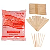 Cirepil Cristalline Bead Wax (800gm) Kit, includes 100 X-Small and 60 Large Applicator Sticks Review