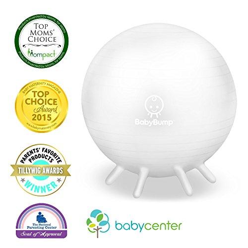 Baby Bump Birth Ball with Base Legs - Stability/Balance/Stan