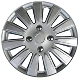 "Drive Accessories KT-1011-15S/L, Nissan, 15"" Silver Replica Wheel Cover, (Set of 4)"