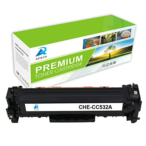 AZTECH 1 Pack 2800 Pages Standard Yield Yellow Toner cartridge Replaces HP 304A CC532A Used for HP Color LaserJet CP2025 CP2025N CP2025DN CM2320 CM2320N MFP CM2320NF MFP CM2320FXI