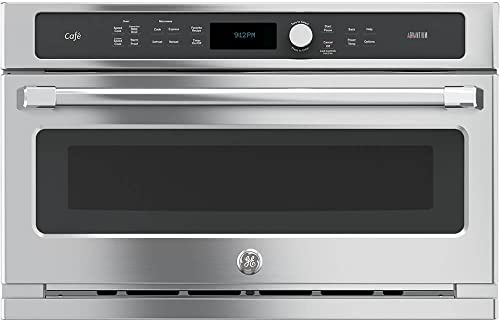GE CSB9120SJSS Cafe Advantium 30Inch Electric Single Wall Oven
