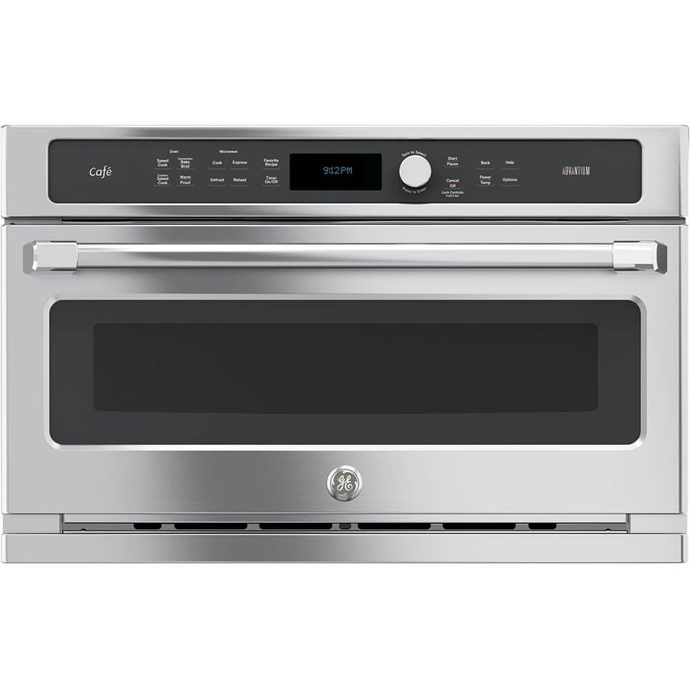 "GE CSB9120SJSS Cafe Advantium 30"" Stainless Steel Electric Single Wall Oven - Convection"