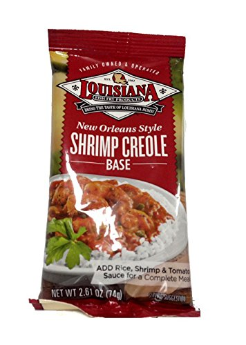 Louisiana Shrimp Creole (Louisiana Fish Fry Shrimp Creole Base-4 (four) 2.5oz Packages)