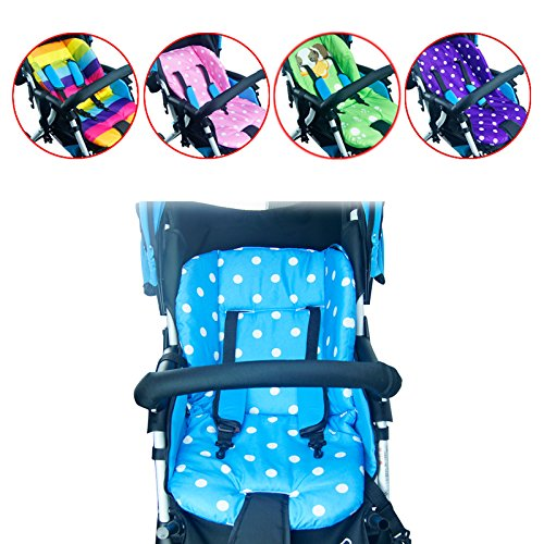 Stroller Liner Baby Stroller Liner - Thick Colorful Baby Infant floor mat Breathable Stroller Padding Liner Car Seat Seat Pushchair Pram Cushion Cotton Mat - Stroller Liner (Pink 2)