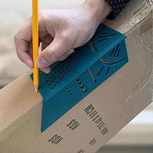 IBISHITAOXUNBAIHUOD Tratamiento de la madera /ángulo Mitre 3D Medir el tama/ño de la medida cuadrada de la herramienta con man/ómetro y regla Herramientas