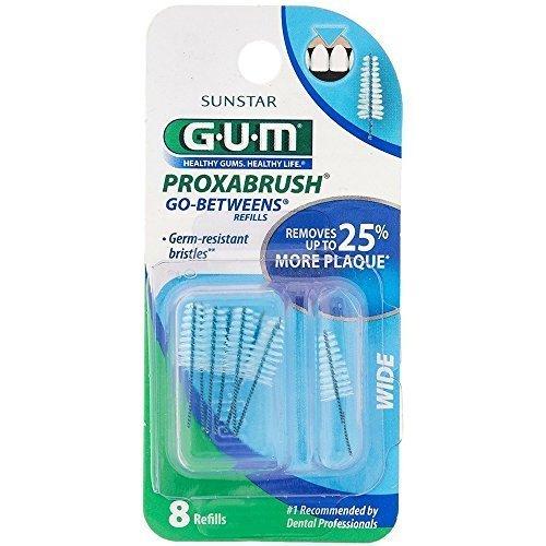 GUM Go-Betweens Proxabrush Refills Wide [614] 8 Each (Pack of 5)