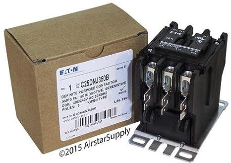 Eaton//Control Automation C25DNJ350B CONTACTOR; DP; 3 Pole; 50A; 240VAC Coil