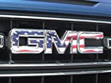 EmblemsPlus American Flag GMC Sierra 1500 Grille GMC Emblem Decal Overlay Vinyl Sheet CUT-YOUR-OWN Easy To Install DIY Fits 2014 Thru 2018.