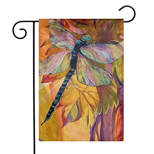 (Watercolor Vineyard Dragonfly Garden Flags Home Indoor & Outdoor Holiday Decorations,Waterproof Polyester Yard Decorative \r\nFor Game Family Party Banner)