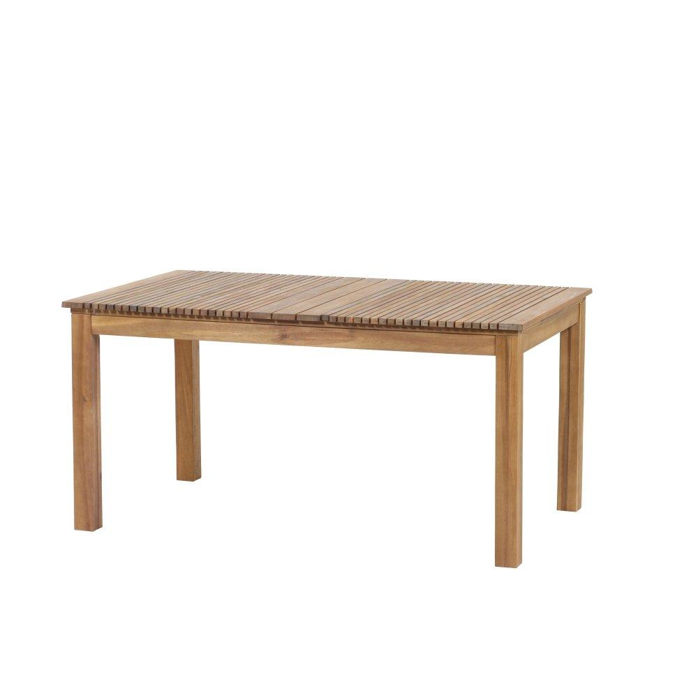 Siena Garden Dining Tisch Falun, 150x90x74cm, Gestell: Akazienholz, geölt in natur, Tischplatte: Akazienholz, FSC 100%