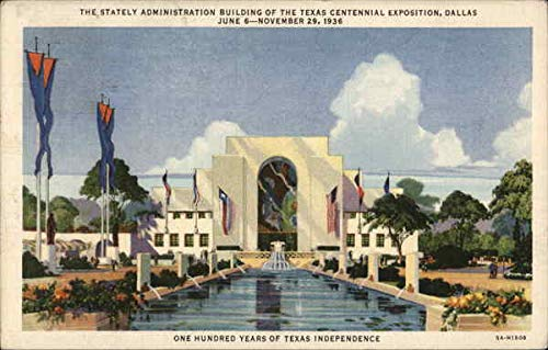 Texas Centennial Exposition - Administration Building Dallas Original Vintage Postcard from CardCow Vintage Postcards