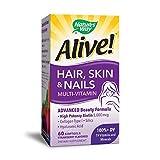 Nature's Way Alive! Hair, Skin & Nails Multi-Vitamin, 60 Count