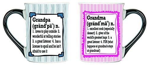 Grandma And Grandpa Mugs, Set of Two Grandma And Granpa Mugs, Mug Set For Grandma And Grandpa, Large 20 Oz Coffee Cups By Tumbleweed