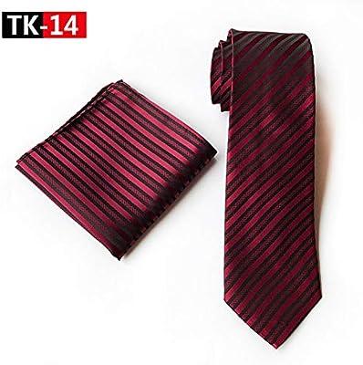 CDBGPZLD Conjunto de pañuelo de Corbata de Moda para Hombres ...