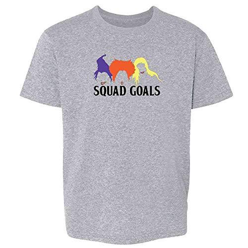 Pop Threads Squad Goals Witches Halloween Costume Sport Grey 2T Toddler Kids T-Shirt ()