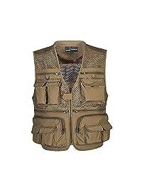 Summer Autumn Men Multifunctional Multi Pocket Photography Fishing Mesh Vest Outdoor Quick-Drying Travel Jacket Waistcoat M-XXXXL